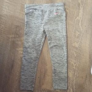 Black & Grey girls Nike leggings Dri-Fit 4T